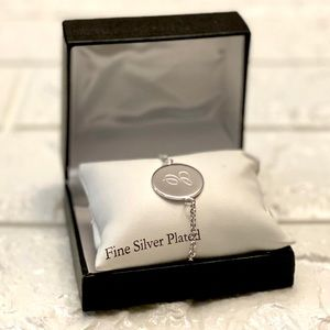 """Initial """"E"""" silver plated bracelet"""